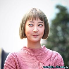 [170415] Hyelin - EXID Music Core Mini Fanmeeting South Korean Girls, Korean Girl Groups, Blunt Haircut, Hani, Meme Faces, Mamamoo, Dimples, Hair Designs, Kpop Girls