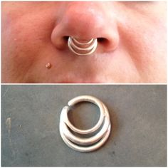 3 Ring Septum Jewelry. Custom made to order. by JewelrybySarahink. Handmade item Materials: sterling silver, silver Made to order Feedback: 5 reviews Ships worldwide from San Diego, California