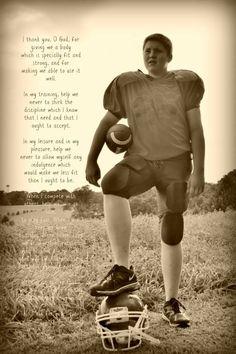 Football player pose idea