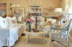 shabby chic flea furniture market | Shabby Chic Inspired Design Living room