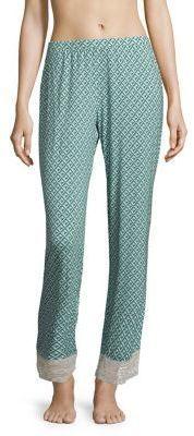 Saks Fifth Avenue COLLECTION Lori Diamond-Printed Wide-Leg Pants