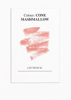 & Other Stories Chubby Lip Pencil in Cone Mashmallow