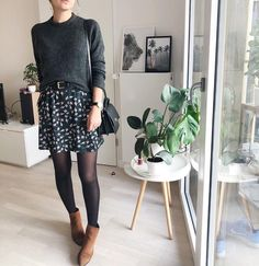 ▷ 30 Fashion Outfits for this Fall 2019 - The New TREND - floral skirt . - ▷ 30 Fashion Outfits for this Fall 2019 – The New TREND – floral skirt … – - Hipster Outfits, Mode Outfits, Casual Outfits, Fashion Outfits, Womens Fashion, Floral Outfits, Mode Inspiration, Looks Style, Work Fashion