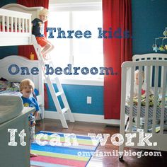 "2 in bunk beds, great ""room rules"" for the bedroom. Move toys to a common area, so bedroom is for sleep only."