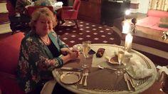 Therese at Our Table at Esphahan Restaurant at Oberoi Amarvilas