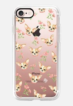 Casetify iPhone 7 Classic Grip Case - Watercolor Dog Chihuahua lovely forever pet by imushstore by imushstore by OHYY #Casetify