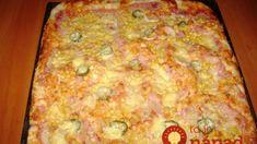 Bez čakania: Domáca pizza so šunkou a syrom bez kysnutia! Pizza Recipes, Dessert Recipes, Desserts, 4 Ingredients, Quiche, Banana Bread, Macaroni And Cheese, Hamburger, Toast