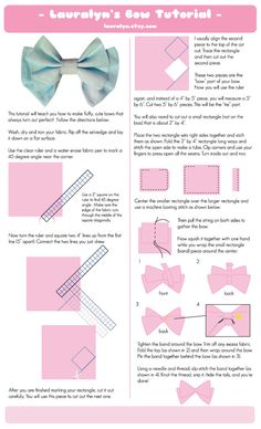 How to make perfect bows for cosplay Fabric Bow Tutorial, Hair Bow Tutorial, Costume Tutorial, Cosplay Tutorial, Cosplay Diy, Sewing Hacks, Sewing Tutorials, Sewing Crafts, Sewing Patterns