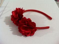 tiara - flor de cetim