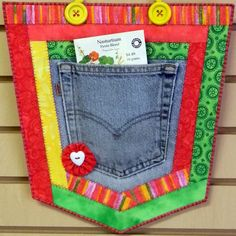 Recycled Denim Crafts   CRAFT PATTERN - Repurpose, Recycle, Upcycle Pockets - Denim, Jeans ...