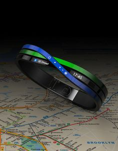 Navigating the New York subway system can be a bit of a challenge. What if you could turn to a bracelet to show you the way around? The Relay connected accessory concept would alert the rider to train arrival times, approaching stops, and the color of the subway line, as well as show available transfers. This nifty concept is a top design from Frog's internal wearable technology competition.