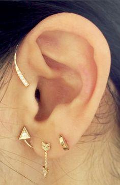 Tour d'oreille et boucle flèche