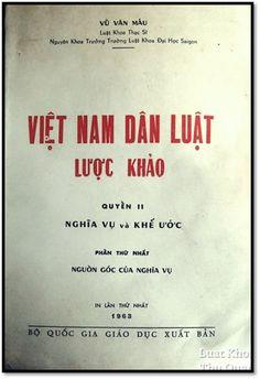 Việt Nam Dân Luật Lược Khảo Quyển II-Nghĩa Vụ Và Khế Ước (NXB Bộ Giáo Dục 1963) - Vũ Văn Mẫu, 795 Tr | Sách Việt Nam
