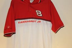 d190ec670 Dale Earnhardt Jr NASCAR Shirt Budweiser 8 Polo Embroidered Chase  Authentics  Chase