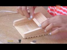 Diy Projects With Popsicle Sticks, Craft Stick Projects, Popsicle Crafts, Craft Stick Crafts, Diy Arts And Crafts, Creative Crafts, Crafts For Kids, Diy Crafts, Wooden Clothespin Crafts