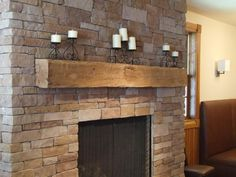 Reclaimed Wood Beams For Fireplace Mantels