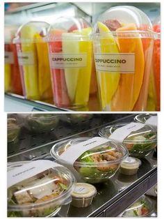New fruit shop logo juice bars 26 ideas Salad Packaging, Food Packaging, Food To Go, Food And Drink, Juice Bar Design, Herbalife Shake Recipes, Fruit Shop, Fruit Cups, Coffee Shop Design