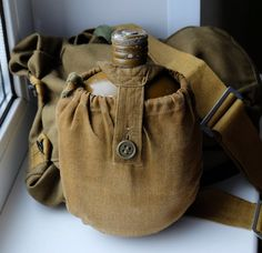 Vintage Military Metal Flask Soviet army water by MadeInTheUSSR