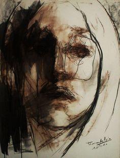 Portrait fusain de Tony Masschelein