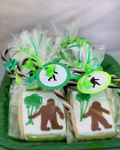 Bigfoot cookies for party favors