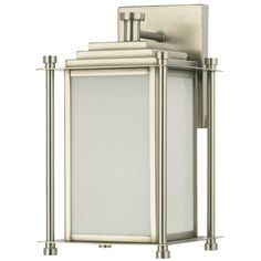 Modern Urban Outdoor Wall Sconce - Small satin_nickel