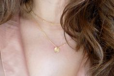 Simple Gold Heart Necklace, Gold Filled Necklace, Dainty Gold Necklace, Everyday Necklace by ArroseJewelry on Etsy Dainty Gold Necklace, Everyday Necklace, Heart Of Gold, Simple, Etsy, Jewelry, Bijoux, Jewlery, Jewels