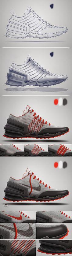 New Footwear concept - trail running_140220 | Nassir Khamin Portfolio