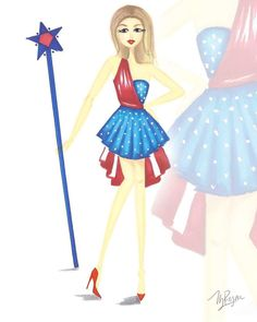 Happy Independence Day #fashionillustration #sketch #drawing
