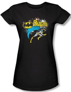 Batgirl Halftone T-Shirt - for teens and adults