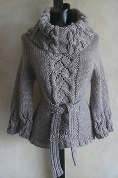 Ideas For Crochet Poncho Pullover Cowl Neck Sweater Knitting Patterns, Coat Patterns, Knitting Designs, Crochet Patterns, Free Knitting, Gilet Crochet, Knit Crochet, Cable Sweater, Cable Knit