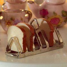 1/12 scale miniature  Toast Rack & Toast