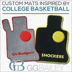We custom designed car floor mats in celebration of the NCAA basketball tournament. Click the pin for a link to see the options.
