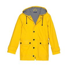petit bateau's yellow raincoat. for adults. yes.