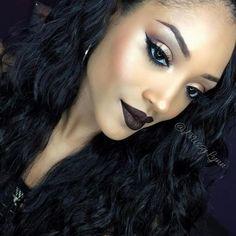 20 потрясающих примеров макияжа в тёмных тонах, которые идеально подходят для этой осени