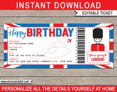 Birthday London Trip Gift Boarding Pass – Home Education Christmas In England, Holidays In England, London Christmas, Christmas 2019, Boarding Pass Template, Ticket Template, Printable Tickets, Merry Christmas Text, Printables