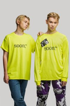 picture of Marcus and Martinus wearing the SOON collection for a MMstore's photoshoot Great Friends, Graphic Sweatshirt, Photoshoot, Sweatshirts, How To Wear, Collection, Women, Starbucks, Fashion