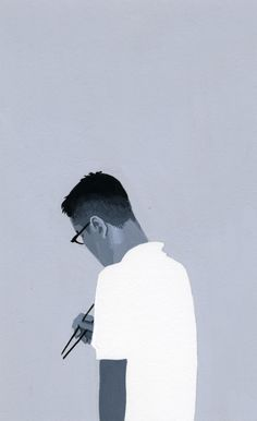 White and black  The illustration for a novel by Hiroyuki Izutsu, via Behance