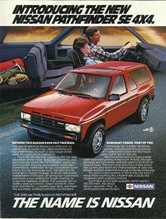 Original 1987 Vintage Ad for Nissan Pathfinder SE 4x4