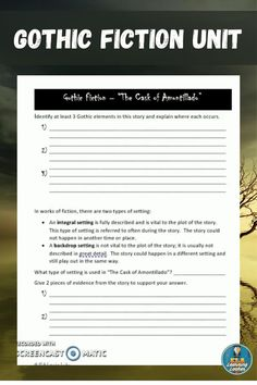 This unit is designed to engage a high school English class in a study of the Gothic genre. The lessons, activities, and assignments in this unit will teach students the characteristics of Gothic fiction and develop literacy skills. Students will identify Gothic elements in texts; respond to texts; compare different versions of a text (print and film); participate in literature circles; conduct research; analyze images, and more. A brief examination of the Southern Gothic subgenre is…