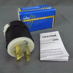 Leviton 2711 8 Pack 30 Amp 4-wire Twist Lock Plug BLACK-WHITE