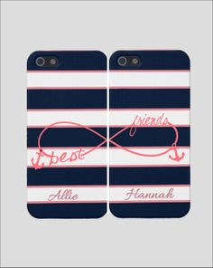 Anchor Best Friends iPhone Case -Infinity Best Friends Iphone Case, Two Case Set,  Nautical Best Friends Iphones  @Desiree Nechacov Ruth and @Mika Klein