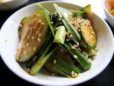 Cucumber and Chives Korean Side Dishes