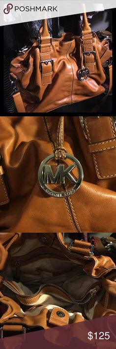 Michael Kors Purse Tan leather purse/cross body bag! Cavas interior lining. Bags Shoulder Bags