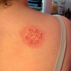 Red Ink Tattoos, Dainty Tattoos, Pretty Tattoos, Mini Tattoos, Body Art Tattoos, Small Tattoos, Cool Tattoos, Tatoos, Fire Tattoo