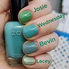 Zoya Bevin Vs Wednesday Comparison Swatches �...