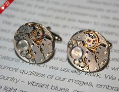 Extravagant Steampunk cufflinks watch mechanism by SteampunkLuxury $20.