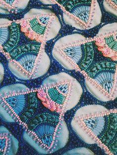 Embroidered beadwork inspo @Craftsy