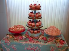 I love everything about this -- especially the cupcake tower!