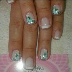 Dali, Nail Ideas, Gel Nails, Nail Designs, Roses, Nail Art, Beauty, Vestidos, Little Girl Nails