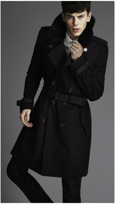 trench Military Trench Coat, Trench Coat Men, Men's Fashion, Winter Fashion, Fashion Looks, Mens Fur, Winter Looks, Winter Style, Summer Jacket